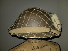 "British WW2 1941 Dated Shell & Liner Original Helmet Big Size Helmet Net 7.5"""