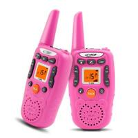 2x Walkie Talkies Kids Girls T-358 22 Channels Two-Way Radios 3 Miles Range Pink