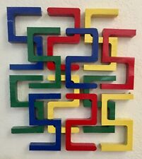 Wood Art Puzzle 3d Suitable for wall hanging 12 pieces painted
