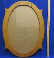 "Oval Oak Picture Frame Wood Wooden Glass Front 28 x 21"" Horizontal or Veritcal"
