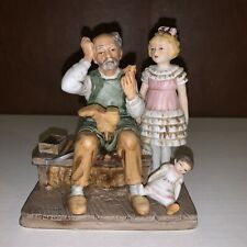 """Vintage 1979 Norman Rockwell """"The Cobbler� Statue Figurine"""