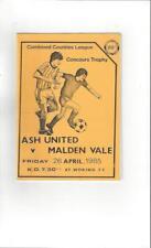 Ash United v Malden Vale Concours Trophy Final 1984/85 Programme @ Woking