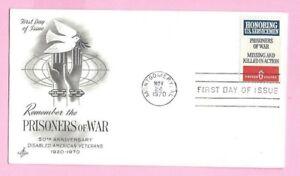 USA 1970 Art Craft  FDC - PRISONERS OF WAR - Montgomery, AL & FDI Slogan