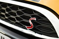 S Grille Grill Emblem Car Front Auto Badge For Clubman Countryman Cooper Hardtop