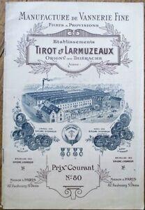 Basket/Basketry 1900 French Trade Catalog - Vannerie Fine 'Tirot & Larmuzeaux'