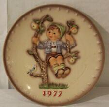 "M.I Hummel Annual Collector Plate 1977, ""Apple Tree Boy"" Western Germany, Goebel"