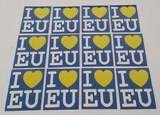 I Love EU Set Adesivi - Brexit Rimangono Europa adesivi - UK Unione Europea E.U