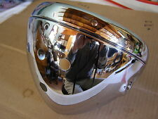"Norton Commando , Triumph  BSA 7"" Chrome Headlight Shell / bucket and Rim stk170"