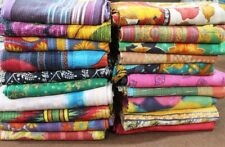 9 Pcs Lot Artisan Kantha Quilt Vintage Indian Handmade Cotton Unique Patchwork
