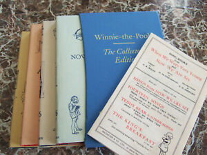 Complete Set Winnie-the-Pooh First Edition Facsimiles~ A.A.Milne w/ Dust Jackets
