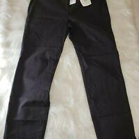 Tori Richard Koa Jackie Capri Black Chino Cropped Pants NWT NEW Women's Size 8