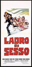 LADRO DI SESSO LOCANDINA CINEMA FILM EROTICO 1973 THE SEX THIEF PLAYBILL POSTER