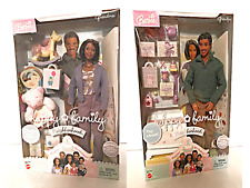 Barbie Happy Family Neighborhood Grandma & Grandpa Dolls African American 2003
