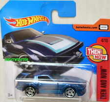 HOT WHEELS 2017 THEN AND NOW MAZDA RX-7 #4/10 BLUE SHORT CARD