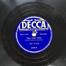 78obrotów Art Tatum - Tea For Two / Deep Purple Decca 2456 płyta szelakowa