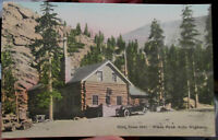 c1915 Glen Cove Inn on Pike's Peak Auto Highway Colorado CO handcolored postcard
