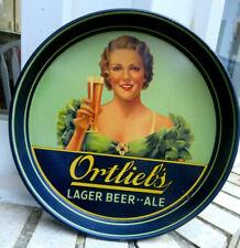 Vintage 1930s Ortlieb'S Lager Beer Ale Tray Philadelphia Pa ~ American Art Works