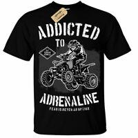 Quad Bike T-Shirt motorcross dirt racing adrenaline mens