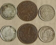 Netherlands : Lot 3 Coins 1 Ct 1913+10 Ct (1918;1943 ) VF- XF  IR279