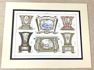 1988 Aufdruck Antik Sevres Porzellan Watteau Jardiniere Cachepot Übertopf Vasen
