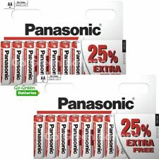 20 x Panasonic AA Zinc Carbon Batteries 1.5V LR6 MX1500 MN1500 MIGNON