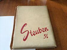 Vintage 1951 Steubenville, Ohio - High School Yearbook - Big Red