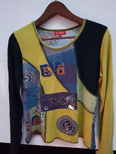 Tee shirt manches longues RENE DERHY multicolore avec perles