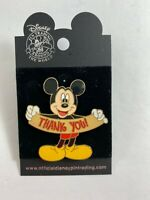 Disney Mickey Mouse Holding Thank You Sign Collectible Trading Pin