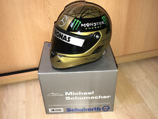 Michael Schumacher 1:2 casque tête casquée Casque Spa 2011 Gold First Version * Rar *