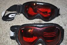 BOLLE SKI GOGGLES SNOWBOARDING LOT of 2 TWO DESIGNER TINTED STRAPPED TUBING