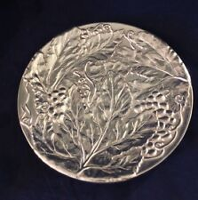 """Wilton Armetale Holloware Grape Pattern Serving Plate 11"""" Pewter Made in Usa"""