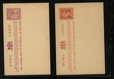 Victoria 2 postal cards unused Ms0422