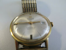 Tissot Visodate Seastar automatic wristwatch gold plate with date. Vintage
