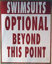 Swimsuits Optional Metal Sign