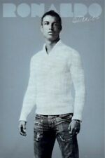 CRISTIANO RONALDO ~ White Sweater ~ 24x36 Real Madrid Football Soccer Poster