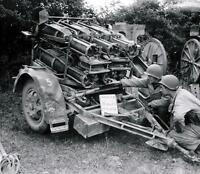 WWII B&W Photo US Soldiers with Captured German Nebelwerfer  WW2 Wehrmacht/ 1245
