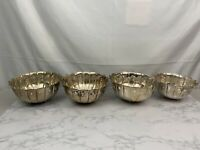 Vintage INTERNATIONAL SILVER CO Christmas  Handmade Plated Serving Bowl Set S1