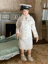 Vintage Miniature Dollhouse Doll Artisan Porcelain Nurse Lady Woman Character