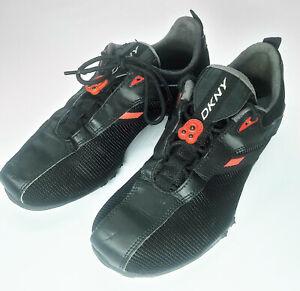 DKNY Unisex Black/Red Leather/Mesh DK Speed Sneaker 8.5US    A90
