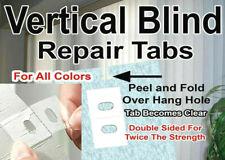 50 PACK! VERTICAL BLIND TABS 🌟 NEW BULK DEAL! 🌟 SLAT REPLACEMENT REPAIR SAVERS