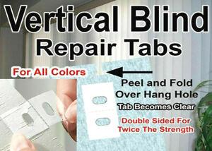 50 PK! #1 VERTICAL BLIND SLAT TABS 🌟 REPAIR DONT REPLACE! 🌟 REPLACEMENT SAVERS
