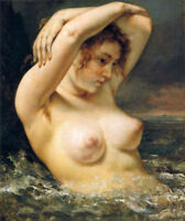 ZOPT315 charmed bathing nude naked lady hand painted oil painting art canvas