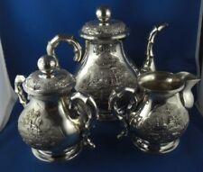 3-tlg. Kaffeeservice Vietnam Ngyuen Chieu 900er Silber