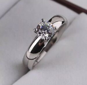 Ring, Edelstahl, Kristall, Strass, Silber Statement, Gr. 19 = 1,9cm NEU TOP