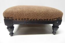 ANTIQUE VICTORIAN TURNED WOODEN LEG FOOTSTOOL GOUT STOOL