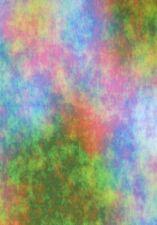 5 X A4 Apoyo Tarjeta 250gsm En Abstracto Arcoiris Y Arcoiris Espirales Nuevo