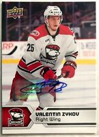 2017-18 Valentin Zykov Upper Deck AHL Autographs SPs #145 Checkers Carolina