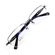 Pure Titanium Half rimless Spectacles Men Glasses Optical Eyeglass Frame RX