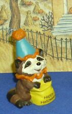Hallmark Halloween Merry Miniatures Raccoon as Clown 1989 Used with Gold Seal