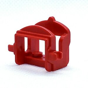 LEGO Horse Saddle with Two Clips 4491b Red Accessory Castle Western